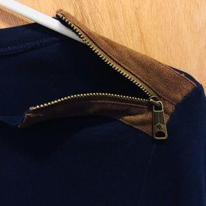 Lauren Ralph Lauren Tops - Ralph Lauren Navy Long Sleeve with Elbow Patches